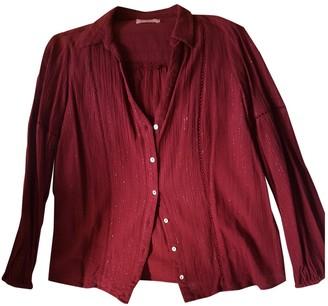 BA&SH Bash Fall Winter 2018 Burgundy Cotton Top for Women
