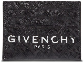 Givenchy Card holder in Hammered black Leather with logo print