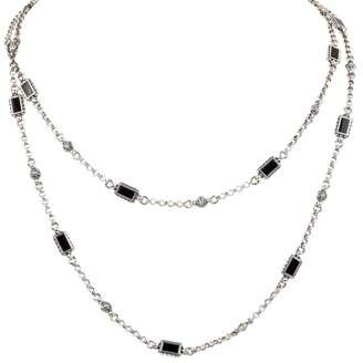 Konstantino 18K White Gold, Sterling Silver & Onyx Necklace