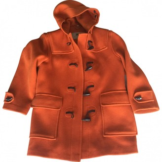 Burberry Orange Wool Coats