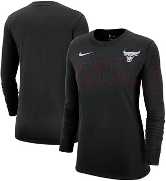 Nike Women's Black Chicago Bulls Fanwear Long Sleeve T-Shirt