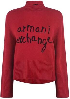 Armani Exchange Logo Knit Jumper