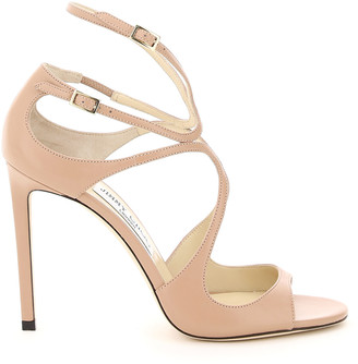 Jimmy Choo NAPPA LANG SANDALS 36 Pink Leather