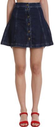 L'Autre Chose Skirt In Blue Denim
