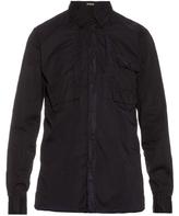 Bottega Veneta Point-collar long-sleeved cotton shirt