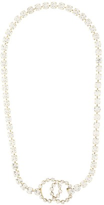 Chanel Pre Owned rhinestone 1995 embellished CC necklace