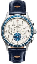 Men's Jack Mason Chronograph Leather Strap Watch, 42Mm