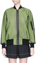 Alexander Wang Oversized net overlay twill bomber jacket