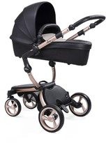 Infant Mima Xari Rose Goldtone Chassis Stroller With Reversible Reclining Seat & Carrycot
