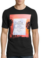 Novelty T-Shirts Short-Sleeve California La Palms Tee