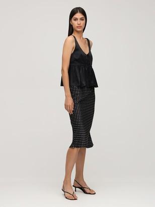 Ciao Lucia Valeria Print Silk Midi Skirt