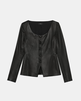Theory Scoop Jacket in Leather