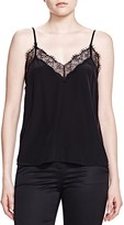 The Kooples Lace Trim Silk Top