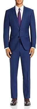 BOSS Huge/Genius Prince of Wales Plaid Slim Fit Suit