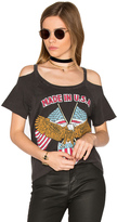 Chaser USA Cold Shoulder Tee