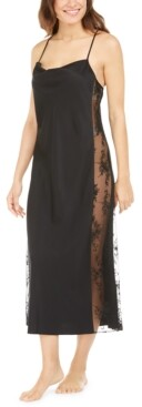 INC International Concepts Inc Lace Side-Panel Nightgown, Created for Macy's