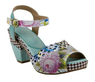 Spring Step L'Artiste by Leather Heeled Sandals - Jivvi