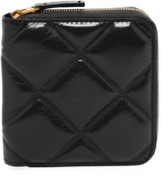 Bottega Veneta Mini Zip-Around Patent Leather Wallet