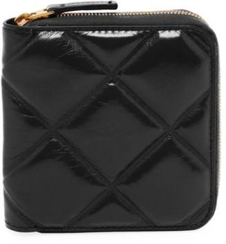 Bottega Veneta Mini Zip-Around Patent Leather Wallet