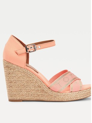 Tommy Hilfiger Metallic High Wedge Sandal - Coral