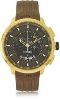Versace Versus Manhattan Men's Chronograph Watch w/Brown Rubber Strap