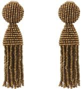 Oscar de la Renta Short Beaded C Tassel Earrings Earring