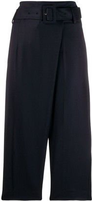 Eudon Choi Belted Wide Leg Trousers
