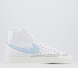 Nike Blazer Mid 77 Trainers White Celestine Blue Sail