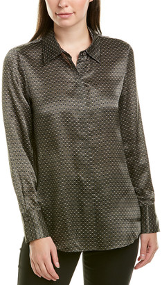 Lafayette 148 New York Scottie Silk Blouse
