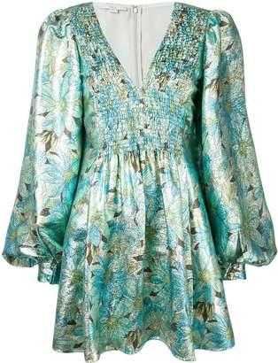 Stella McCartney Floral Print Metallic Dress