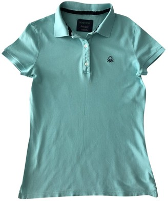 Benetton Turquoise Cotton Tops