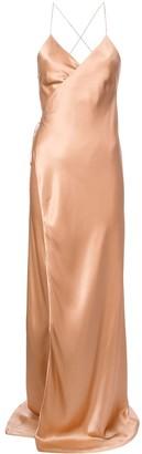 Mason by Michelle Mason Strappy Wrap Gown