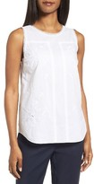 Nordstrom Women's Embroidered Cotton Voile Top