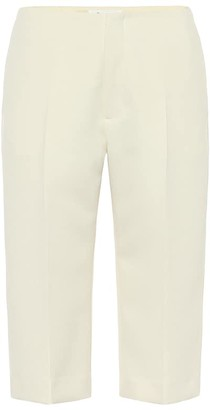 Maison Margiela High-rise slim twill shorts