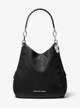 MICHAEL Michael Kors MK Lillie Large Pebbled Leather Shoulder Bag - Black - Michael Kors