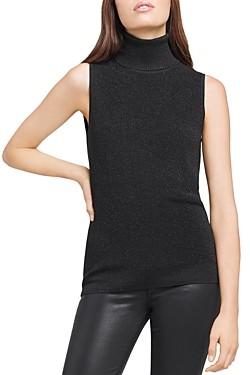 L'Agence Sabrina Sleeveless Turtleneck Sweater