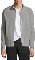 Peter Millar Cabot Stretch-Woven Zip Jacket, Smoke