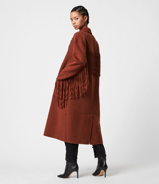 AllSaints Freya Wool Blend Coat