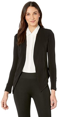 BCBGeneration Tuxedo Blazer with Welts (Black) Women's Clothing
