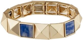 Jardin Pyramid Stud Semi Precious Sodalite Stretch Bracelet