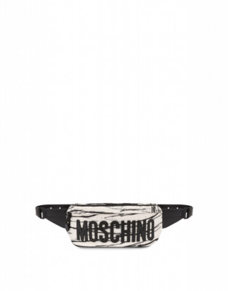 Moschino Mummy Waist Bag Woman White Size U It - (one Size Us)