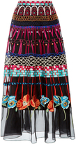 Temperley London Black Aura A-Line Skirt
