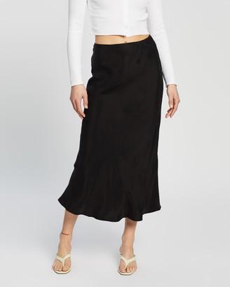 Nude Lucy Esme Cupro Midi Skirt
