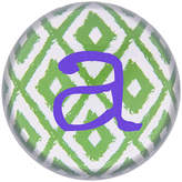 Cathy's Concepts CATHYS CONCEPTS Ikat Personalized Domed Glass Paperweight