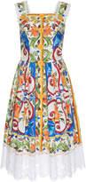 Dolce & Gabbana Maiolica Print Button-Up Dress