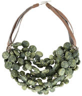 Brunello Cucinelli Green Agate Multistrand Necklace