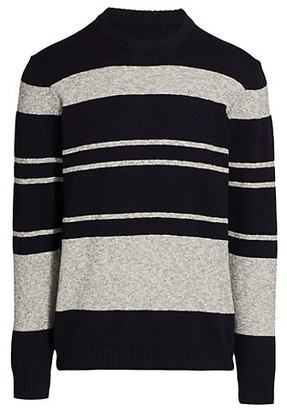 Saks Fifth Avenue MODERN Colorblock Stripe Crew Sweater