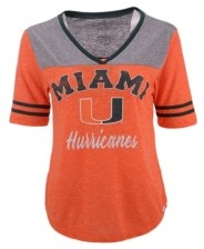 Colosseum Miami Hurricanes Women's Mr Big V-Neck T-Shirt