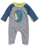 Tea Collection Infant Boy's Hedgehog Graphic Romper
