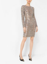Michael Kors Metallic-Embroidered Stretch-Tulle Dress
